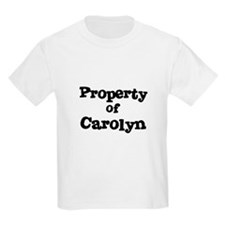 Property of Carolyn Kids T-Shirt