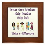 Foster Care Workers Framed Tile