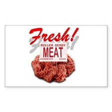 Fresh Roller Derby Meat Rectangle Decal