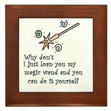 Magic Wand Framed Tile