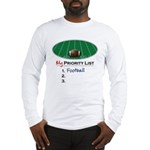 Priority Football Long Sleeve T-Shirt