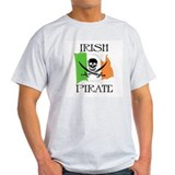 Irish Pirate Flag Ash Grey T-Shirt
