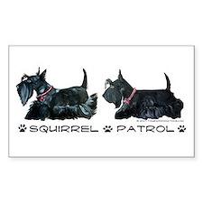 Scottie Squirrel Patrol Terri Rectangle Decal