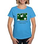 It Takes Balls Women's Aqua T-Shirt