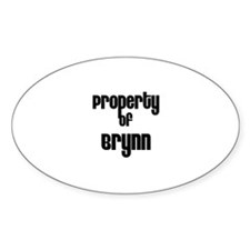 Property of Brynn Oval Decal