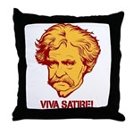 Twain Viva Satire Throw Pillow