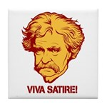 Twain Viva Satire Tile Coaster
