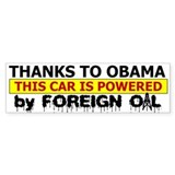 Powered by Foreign Oil Bumper Bumper Sticker