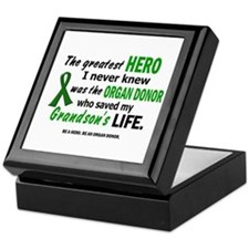 Hero I Never Knew 1 (Grandson) Keepsake Box