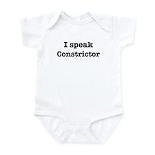 I speak Constrictor Infant Bodysuit
