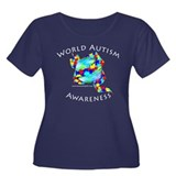 Autism Awareness Women's Plus Size Scoop Neck Dark