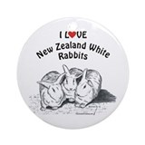I Love NZW Rabbits Ornament (Round)