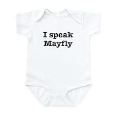 I speak Mayfly Infant Bodysuit