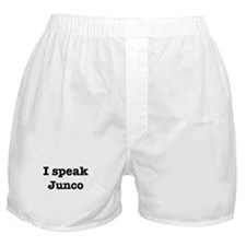 I speak Junco Boxer Shorts