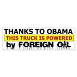 Powered by Foreign Oil Bumper Sticker (10 pk)