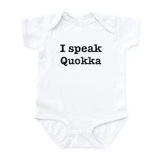 I speak Quokka Infant Bodysuit