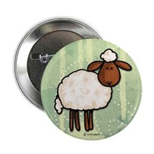 "peace love sheep 2.25"" Button (10 pack)"