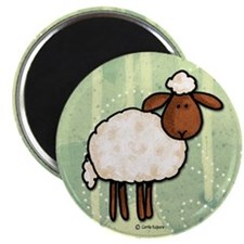 "peace love sheep 2.25"" Magnet (10 pack)"