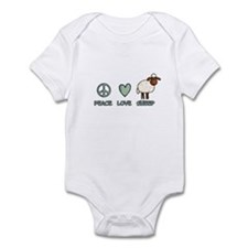 peace love sheep Infant Bodysuit