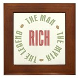 Rich Man Myth Legend Framed Tile