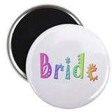 "Bride (Color) 2.25"" Magnet (100 pack)"