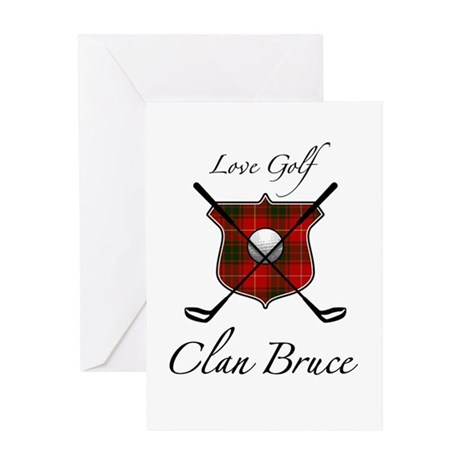 Bruce - Love Golf - Greeting Card