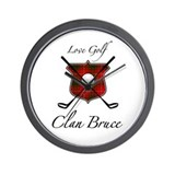 Bruce - Love Golf - Wall Clock