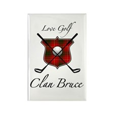 Bruce - Love Golf - Rectangle Magnet