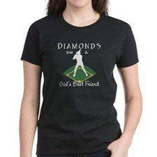 Diamonds - Girls Best Friend Women's Black T-Shirt
