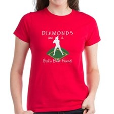 Diamonds - Girl's Best Friend Women's Red T-Shirt