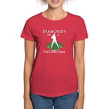 Diamonds - Girl's Best Friend Women's Red T-Shirt