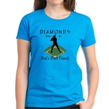 Diamonds - Girl's Best Friend Women's Aqua T-Shirt