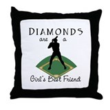 Diamonds - Girl's Best Friend Throw Pillow