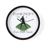Diamonds - Girl's Best Friend Wall Clock