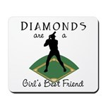 Diamonds - Girl's Best Friend Mousepad