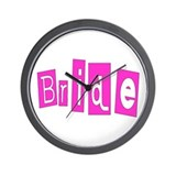 Bride (Hot Pink) Wall Clock