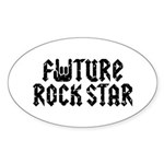 Future Rock Star Oval Sticker