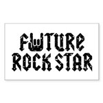 Future Rock Star Rectangle Sticker