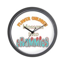Grammie Flower Child Wall Clock