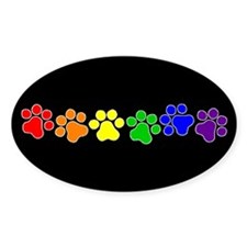 Paw Print Pride Oval Stickers