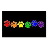 Paw Print Pride Rectangle Decal