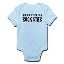 My Big Sister is a Rock Star Infant Bodysuit