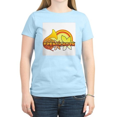 Retro French Horn Women's Light T-Shirt