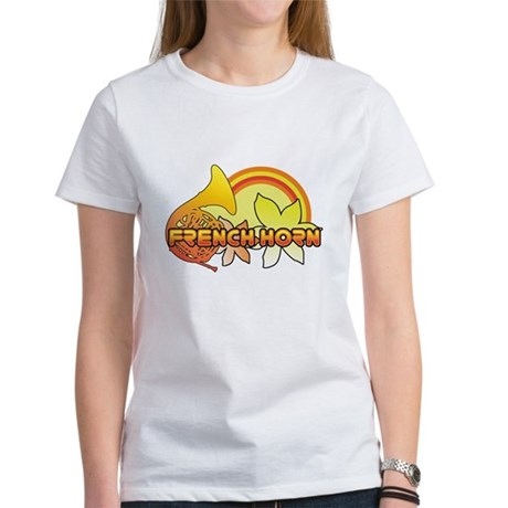 Retro French Horn Women's T-Shirt
