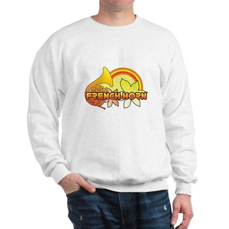 Retro French Horn Sweatshirt