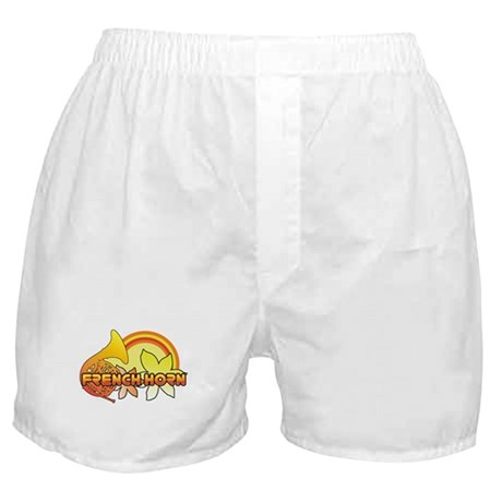 Retro French Horn Boxer Shorts