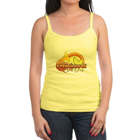 Retro French Horn Jr. Spaghetti Tank