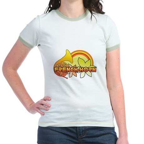 Retro French Horn Jr. Ringer T-Shirt