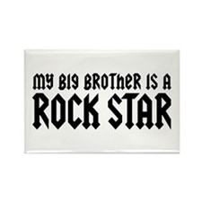 My Big Brother is a Rock Star Rectangle Magnet