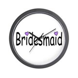 Bridesmaid (Purple Heart) Wall Clock